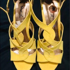 Shoes - Yellow heels